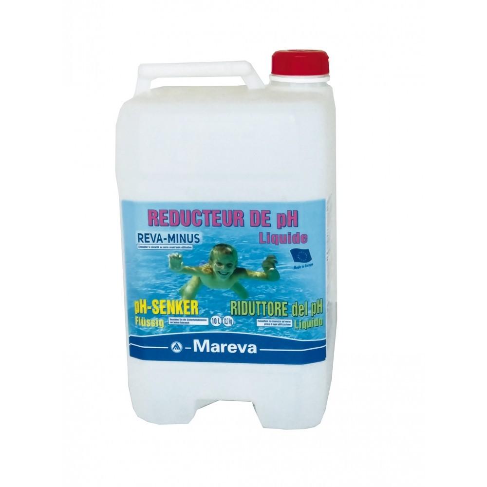 Reva minus liquide ph 10l mareva reunipool for Ph liquide piscine