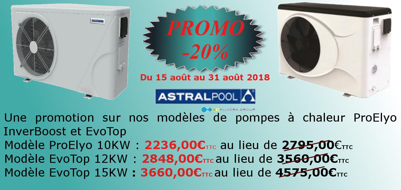 Promotion PAC ProElyo - EvoTop Août 2018 - REUNIPOOL