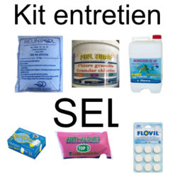Kit entretien sel chlore choc