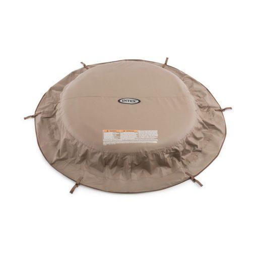couverture beige spa rond 4p